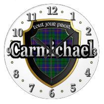 Clan Carmichael Tartan Scottish Dream Clock