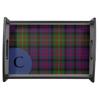 Clan Carnegie Plaid Monogram Serving Tray