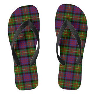 Clan Carnegie Tartan Flip Flops