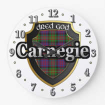 Clan Carnegie Tartan Scottish Dream Clock