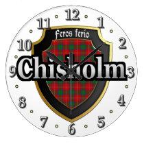 Clan Chisholm Tartan Scottish Dream Clock