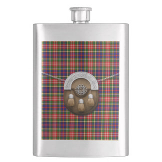 Clan Christie Tartan And Sporran Hip Flask