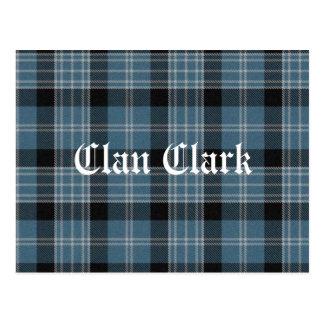 Clan Clark Tartan Postcard