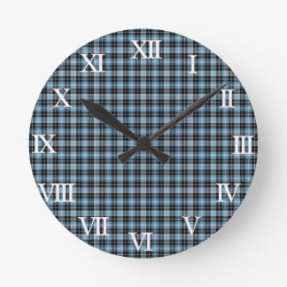 Clan Clark Tartan Round Clock