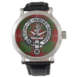 Clan Crawford Crest Badge and Tartan Watch