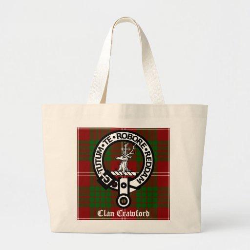 Clan Crawford Crest Tartan Tote Bag