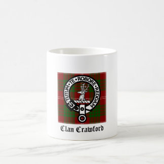 Clan Crawford Crest Tartan Coffee Mug