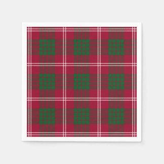 Clan Crawford Tartan Paper Napkin