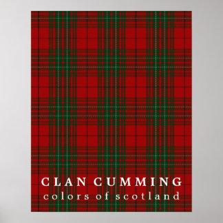 Clan Cumming Colors of Scotland Tartan Poster