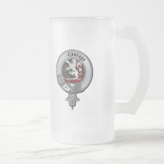 Clan Cumming 16 Oz Frosted Glass Beer Mug