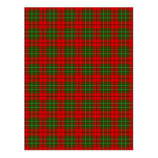 Clan Cumming Tartan Postcard