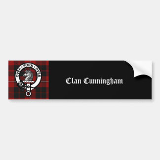 Clan Cunningham Badge & Tartan Bumper Sticker