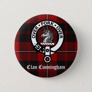 Clan Cunningham Badge & Tartan Button