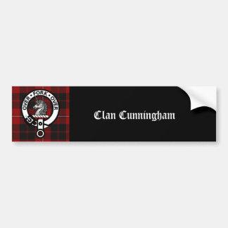 Clan Cunningham Badge & Tartan Car Bumper Sticker