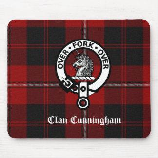 Clan Cunningham Badge & Tartan Mouse Pad