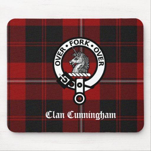 Clan Cunningham Badge & Tartan Mousepad