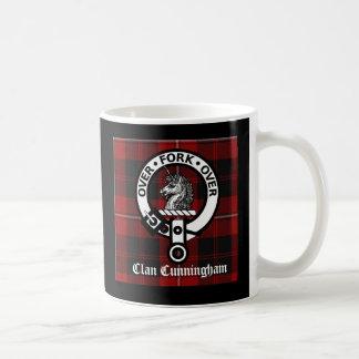 Clan Cunningham Badge & Tartan Mug