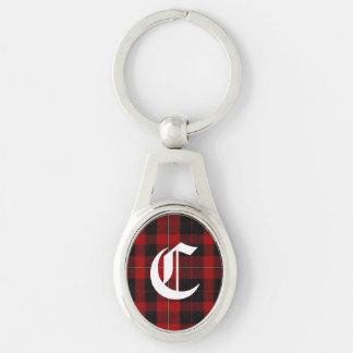 Clan Cunningham Plaid Monogram Key Chain