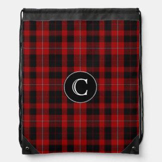 Clan Cunningham Tartan Plaid Monogram Backpack
