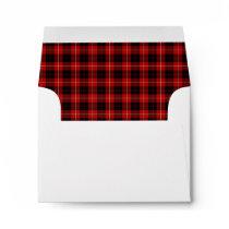 Clan Cunningham Tartan Red and Black Plaid Envelope
