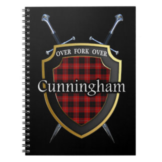 Clan Cunningham Tartan Shield & Swords Notebook