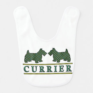 Clan Currie Currier Scottie Dogs Scottish Tartan Bib