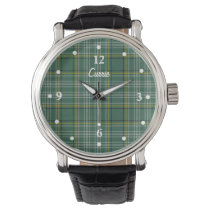 Clan Currie Tartan Plaid Faced Custom Watch