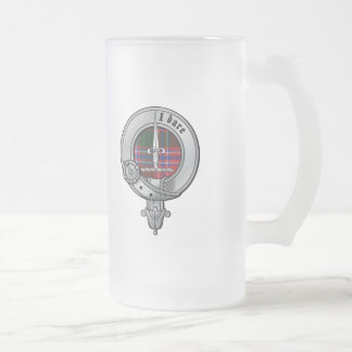 Clan Dalzell Frosted Glass Beer Mug