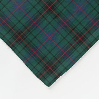 Clan Davidson Dark Green Tartan Fleece Blanket