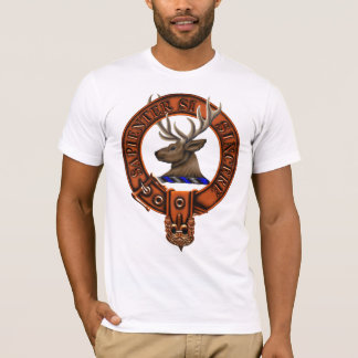 Clan Davidson Family Crest and Targe T-Shirt