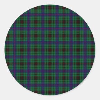 Clan Davidson Tartan Classic Round Sticker