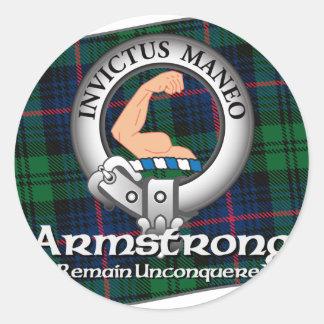 Clan de Armstrong Pegatina Redonda