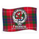 Clan de Fraser Tarjeta Postal