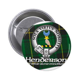 Clan de Henderson Pin Redondo De 2 Pulgadas
