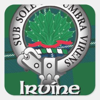 Clan de Irvine Pegatinas Cuadradases Personalizadas