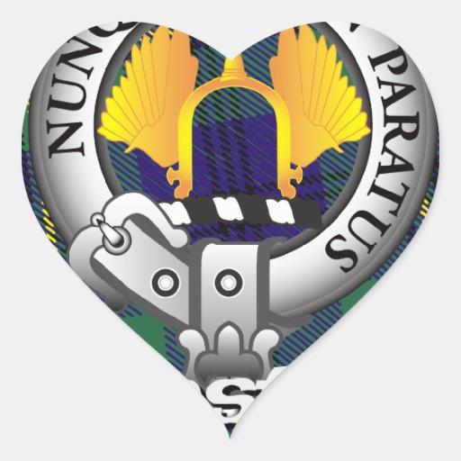 Clan de Johnston Johnstone Pegatina En Forma De Corazón