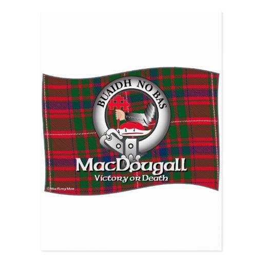 Clan de MacDougall Tarjeta Postal