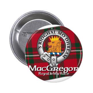 Clan de MacGregor Pin Redondo De 2 Pulgadas