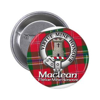 Clan de Maclean Pin Redondo De 2 Pulgadas