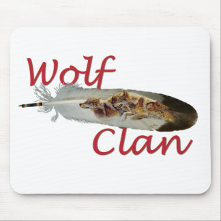 Clan del lobo alfombrillas de ratones