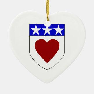 Clan Douglas Shield Heart Oranment Ornament