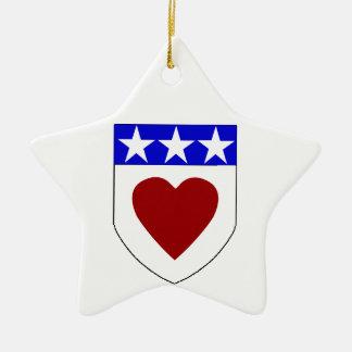 Clan Douglas Shield Star Oranment Christmas Ornaments