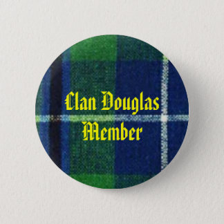 Clan Douglas Tartan Badge  Member Button