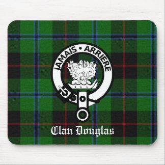 Clan Douglas Tartan Crest Mouse Pad