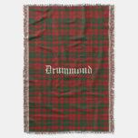 Clan Drummond Tartan Plaid Custom Throw Blanket