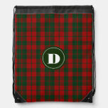 Clan Drummond Tartan Plaid Monogram Backpack