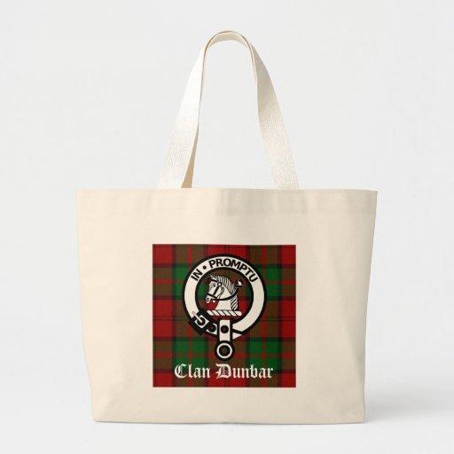 Clan Dunbar Tartan & Crest Badge Tote Bag