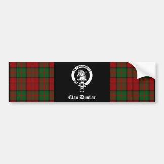 Clan Dunbar Tartan & Crest Badge Bumper Sticker