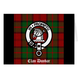 Clan Dunbar Tartan Crest Badge Greeting Cards
