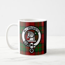 Clan Dunbar Tartan & Crest Badge Coffee Mug